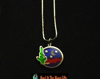 Handcrafted Southwestern Serenade Cloisonne Chain Necklace