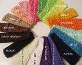 Crochet Headband - Add on to Any Bow or Clip - You Choose Color