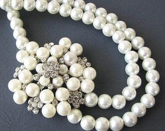Wedding Jewelry Bridal Necklace Bridal Jewelry Wedding Necklace Pearl Necklace Crystal Necklace