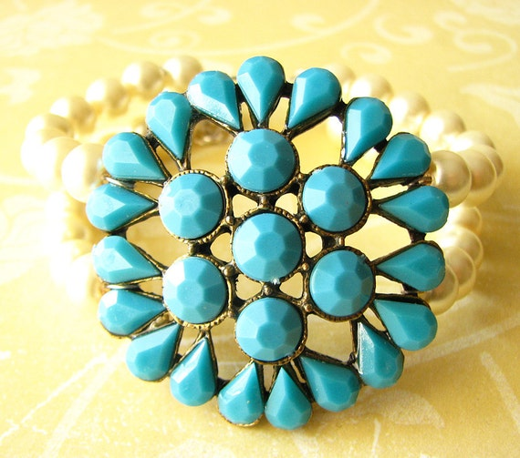 Bridal Cuff Bracelet Turquoise Jewelry Statement Bracelet Bridal Jewelry Bangle Bracelet Bridesmaid Bracelet Summer Jewelry