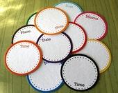 Printable Scrapbooking Journaling Tags -PDF- Circle Notes-set of 12