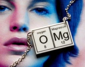 OMg  laser cut  periodic table elements necklace