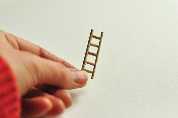 altered book sculpture - ladder