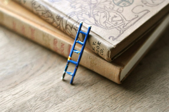 ladder - altered book sculpture
