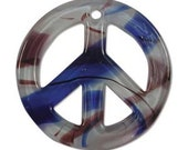 Peace Sign Pendant 2 Inches Wide, Pack Of 2 Pendants