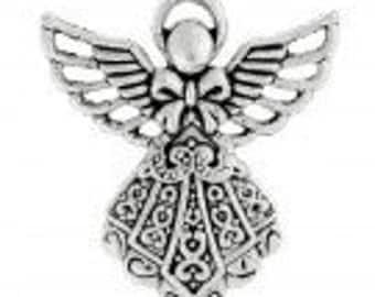 Angel Antique Silver Charm Pack Of 5 Pieces