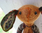 RESERVED FOR  Flanmiller  / Farfield the Earthy Woogain Mouse / Recycled Wool Soft Sculpture