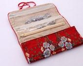 Vintage Travel Jewelry Fold Clutch