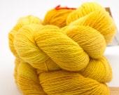DESTASH, SunShine, Wool and Cashmere, HandDyed yarn, Lace, 220 yards