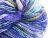 Iris, HandSpun and Hand dyed, Angelina and Merino, Single, bulky, 145 yards