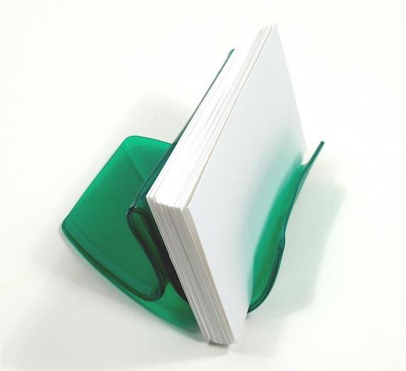 Green Colored Vinyl Record Album Business Card Holder / CD Display