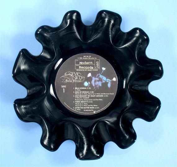 Stevie Nicks Vinyl Record Bowl Vintage LP Album 1981 (Bella Donna)