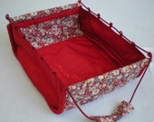 Standalone Bag - China Red Flowers