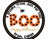 Personalized Stickers, Pumpkins,Halloween, spider,Spooky,Kids,Party,Favor stickers,Labels,Sticker Labels Set of 24