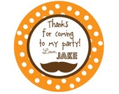 Personalized Stickers,Mustache Sticker, Little Man Party,Treat bag,Birthday, Kids, Party, Favor stickers, Stickers Set of 24