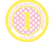 Birthday, Pink, Personalized Stickers, Birthday, , Children,Favor stickers,  Personalized sticker labels set of 24