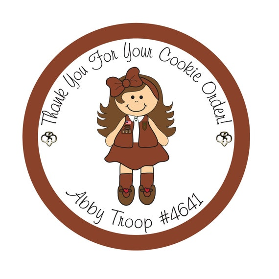 Personalized Stickers, Girl Scout, Daisy, Brownie, Cookies,Favor stickers,Labels, Simply Sweetness Sticker Labels Set of 24