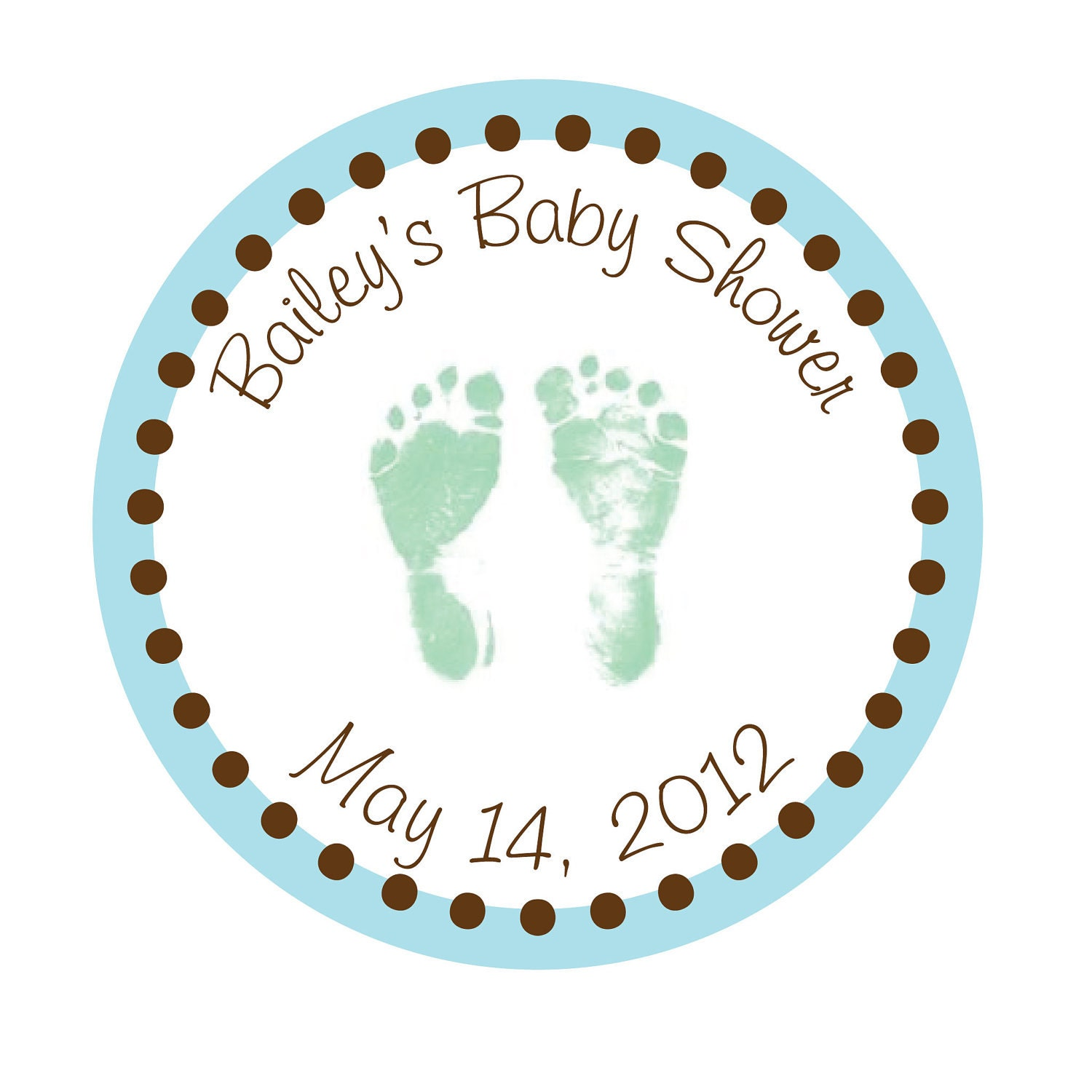 personalized stickers baby feet baby shower by simplysweetness