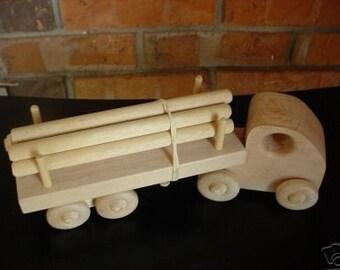 Handmade Toy Log Truck