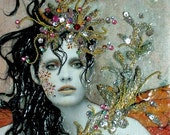 ORIGINAL Assemblage - OOAK - 3 D Collage - Mixed Media -   Rhiannon by GRACIE
