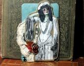 ACEO - Gracie -  Zombie Love - Altered Art Card  -  ATC - Poem - Steampunk - Original - OOAK