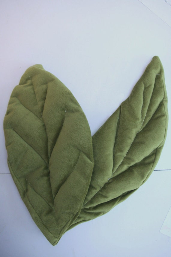 Velvet Sage Green Leaves Photo Prop for your Budding Flower Baby or Your Little Pea in a Pod