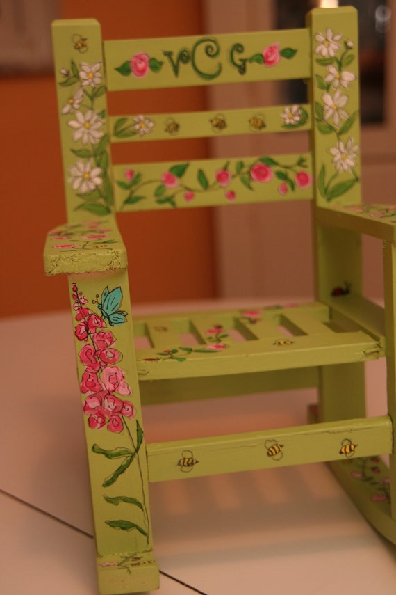 Custom Doll Rocking Chair Custom Painted