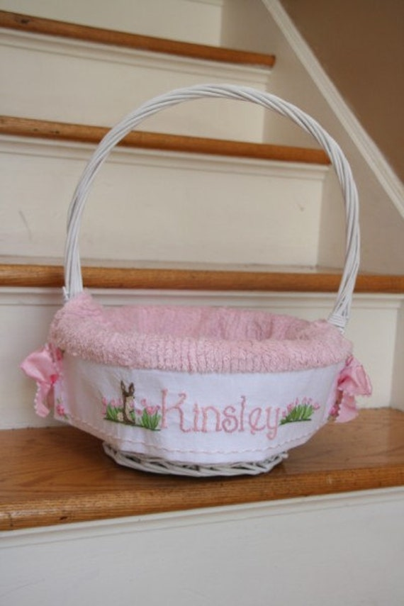 Custom Smaller Basket 8 inch diameter-Girls Custom Easter Baskets -Taking orders for 2014