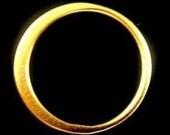Vermeil Link,  Sale,24k Vermeil X-Large Hammered Circle Ring-25mm