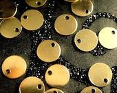 Gold Filled Discs 20 pcs 28g, BULK 6mm 14k Gold Filled Sequin Discs, .9mm Hole ID