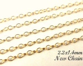 14k Gold Filled Cable Chain,Wholesale Chain -20Ft BULK Round WIre- 2.2x1.4mm