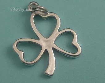 Shamrock - 925 Sterling Silver Lucky Charm-25mm