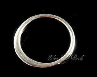 Sterling Silver Links, 8 Pcs- 12MM Small Sterling Silver Circle Link-