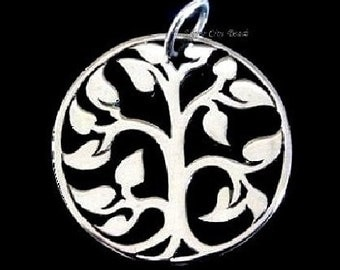 Sterling Silver Tree of Life, SALE-MEDIUM Tree of LIfe Charm- 20x20mm