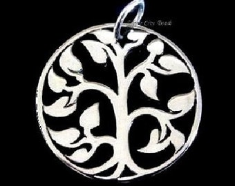 2 Sterling Silver Tree of Life, SALE-Thai MEDIUM Tree of LIfe Charm- 20x20mm