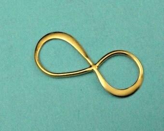 COUPON SALE...24k Gold Vermeil Infinity Link 10 pcs,- SALE - 20x8mm Bulk  Wholesale