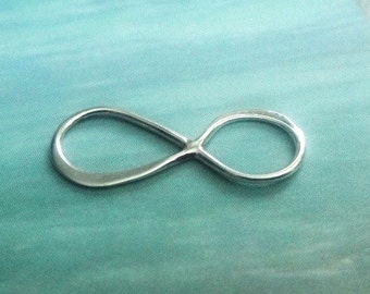 Sterling Silver Infinity Link -10 pcs Bali Links  20x8mm WHOLESALE