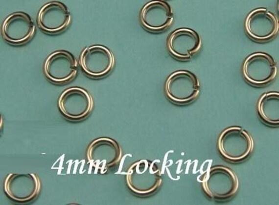 14k Gold Filled Locking Jump Rings, 4mm 20g  aka JUMP LOCKS, 20 pcs,