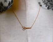 The Tiny Brass Scissors Necklace