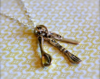 The Utensils Necklace - Sterling Silver