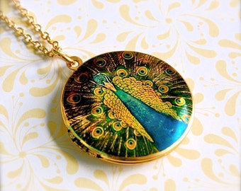 The Elegant Peacock Locket II