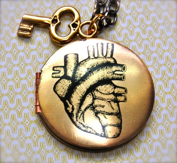 The Key to my Heart Locket - Vintage