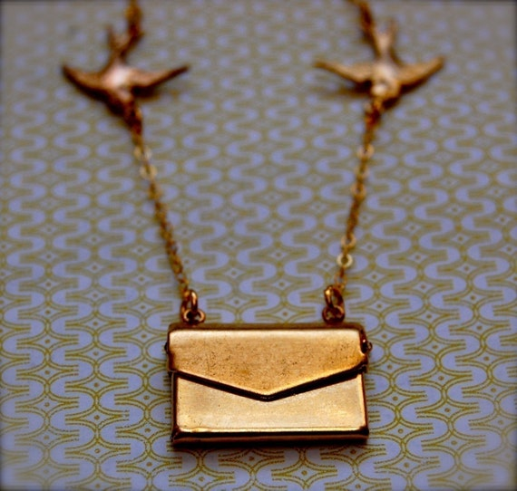 Love Letter and Birds Necklace