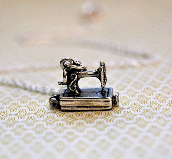 The Tiniest Antique Sewing Machine - Opens - Sterling Silver