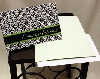 """Blank Congratulations Notecards 4x6"""" A4 Greeting Cards w/ envelopes"""