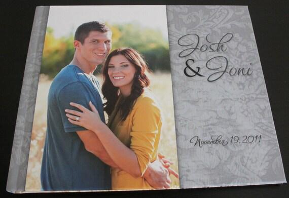 Custom Designed Wedding Photo Guest Sign in Book 10x8