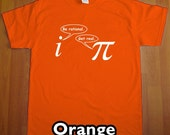Be Rational Get Real MENS Funny Math Nerd T-Shirt (Orange- White Ink) S, M, L, XL, XXL