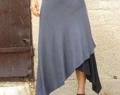 Diagonal skirt-mix and match your favorite colors-Slant cut women's skirt-3 ways skirt-Asymmetric skirt