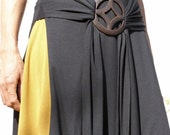 Black womens top tunic- Tibetan wrap tunic -Wrap top for women--womens clothing-Yoga top