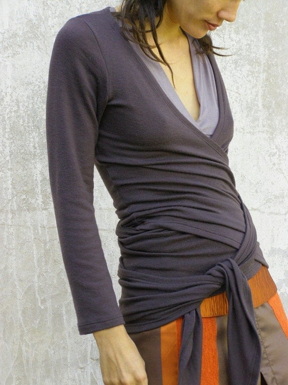 FREE SHIPPING SNUGGLE UP TOP/ WRAP AROUND SHIRT